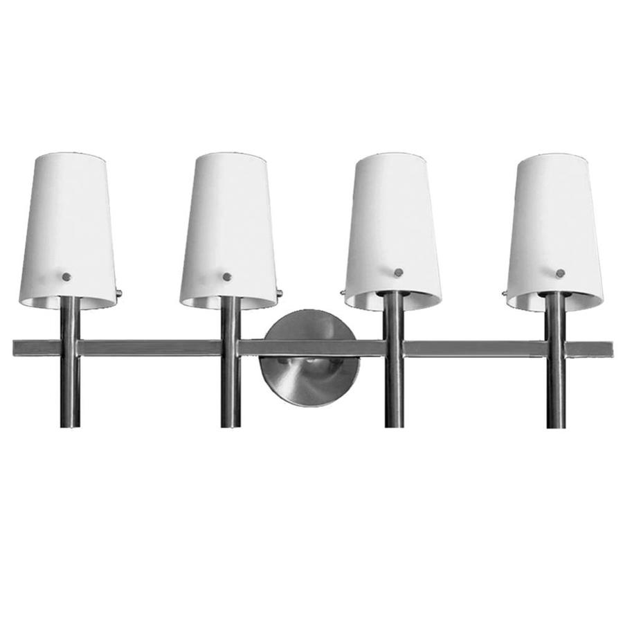 Khaleesi 4-Light 12-in Satin Chrome Vanity Light