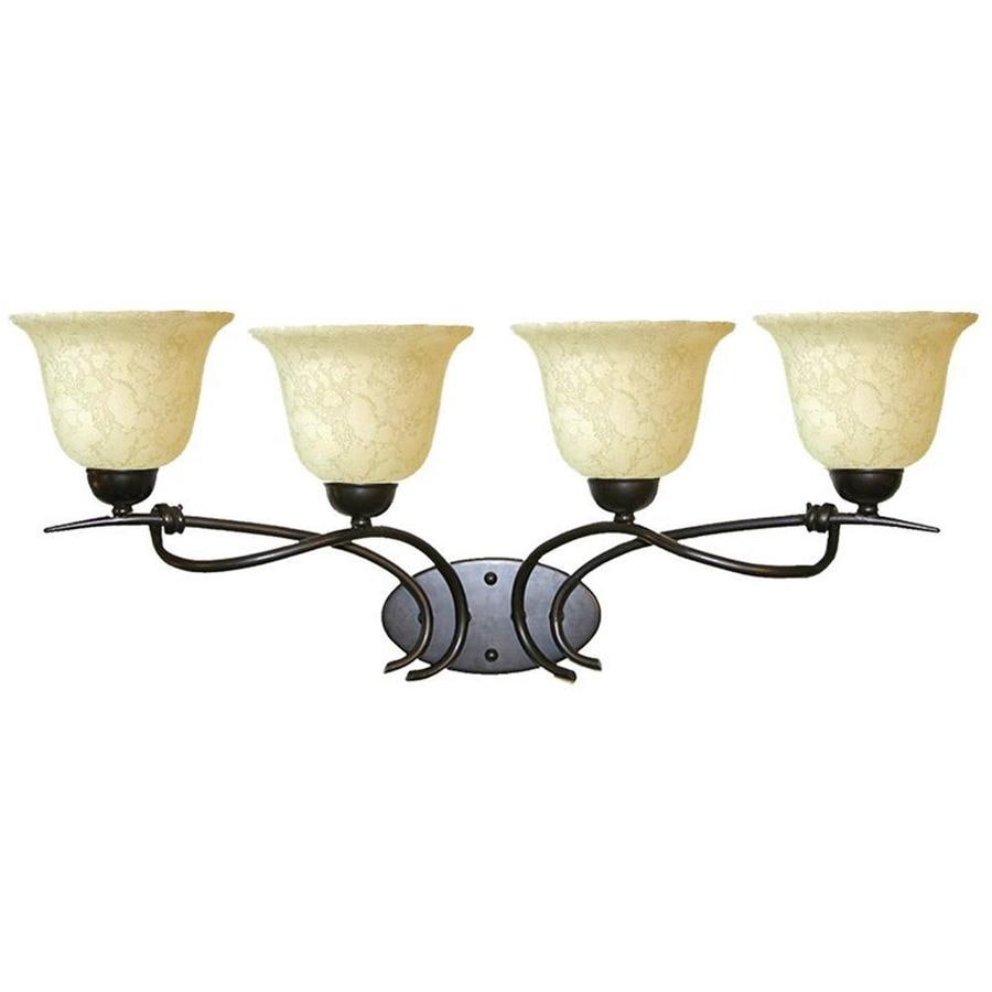 Khaleesi 4-Light 11.5-in Golden Bronze Vanity Light