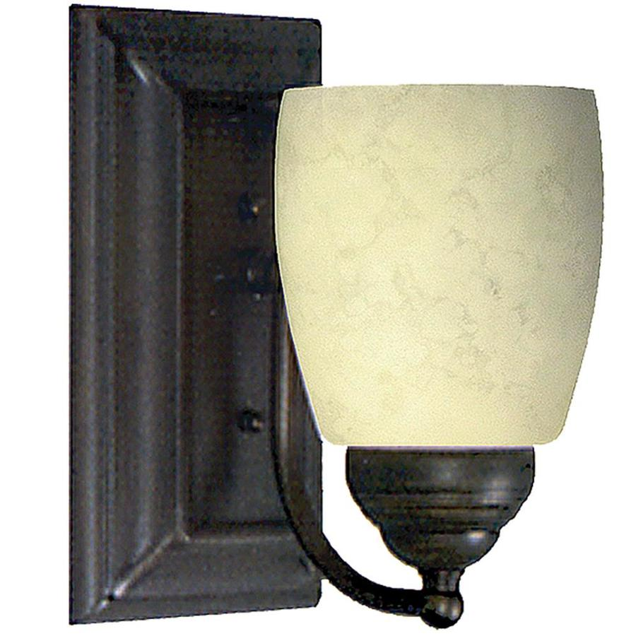 Adjustable Wall Sconce Lowe S : Shop Khaleesi 4.5-in W 1-Light Golden Bronze Arm Wall Sconce at Lowes.com