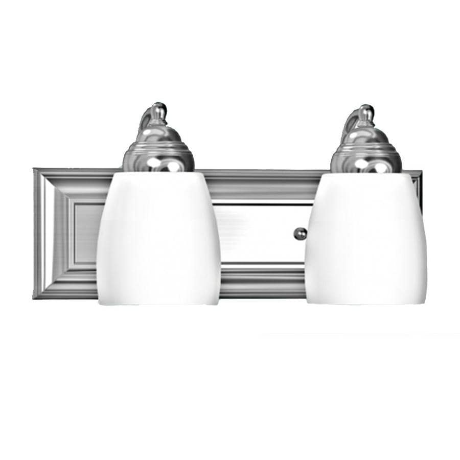 Khaleesi 2-Light Satin Chrome Vanity Light