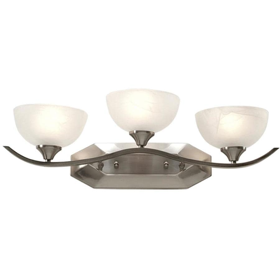 Shop Khaleesi 3-Light 8-in Satin Chrome Vanity Light at Lowes.com