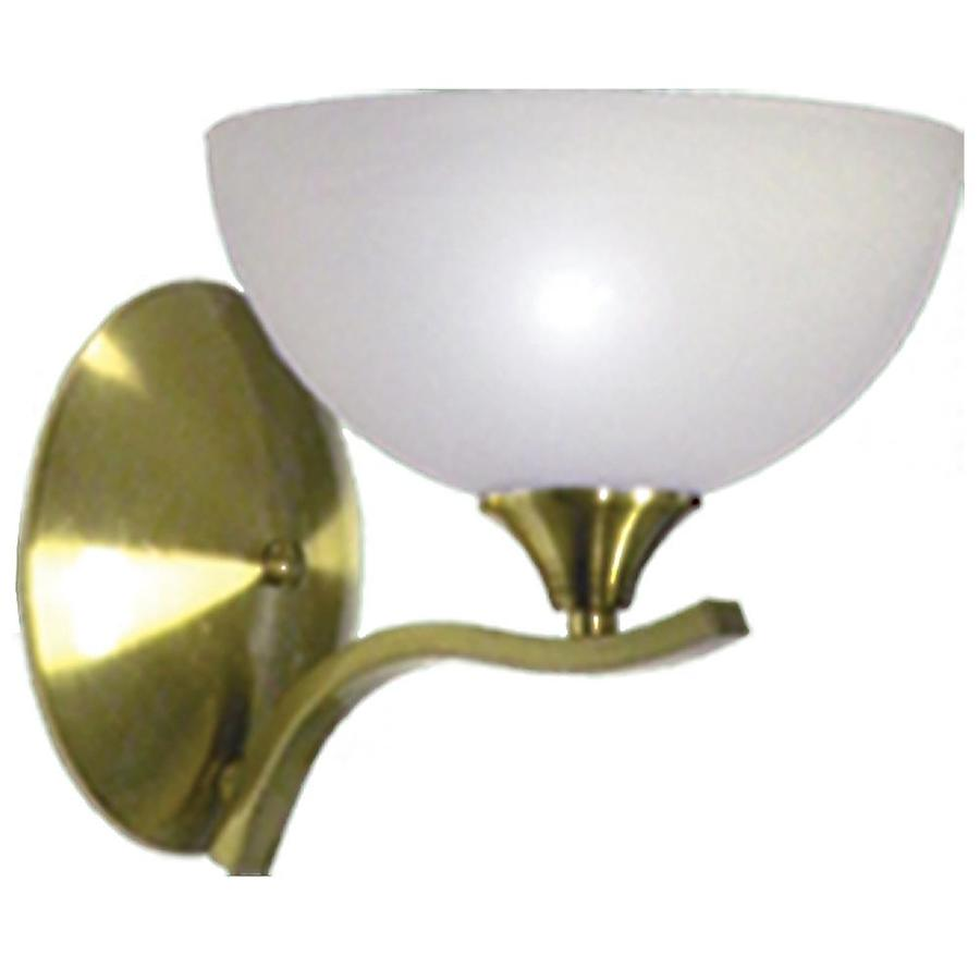 Shop Khaleesi 8-in W 1-Light Satin Brass Arm Wall Sconce at Lowes.com