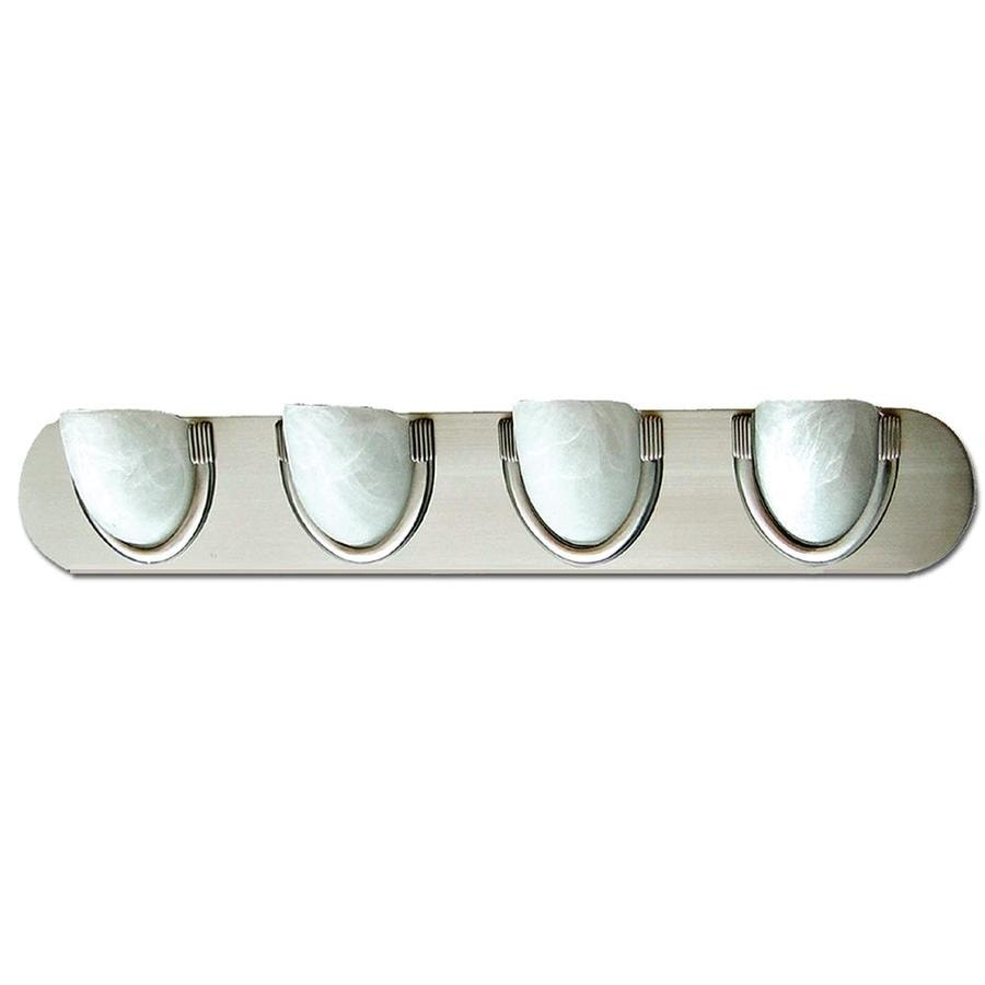 Khaleesi 4-Light 5-in Satin Chrome Bowl Vanity Light