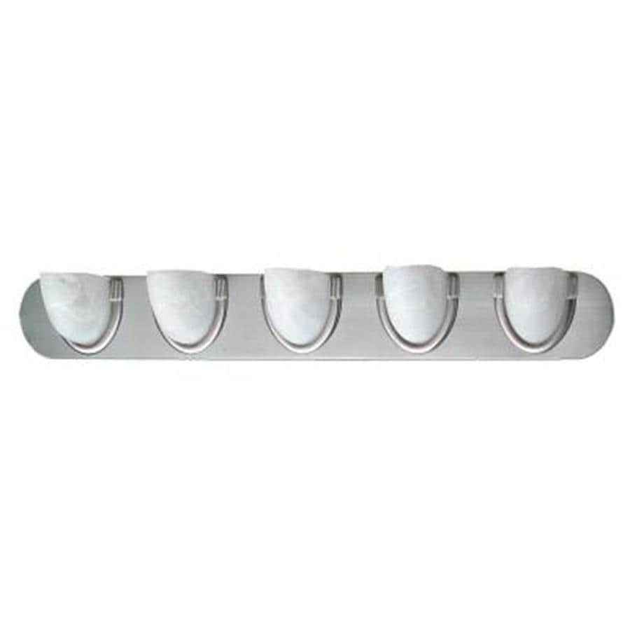 Khaleesi 5-Light 5-in Satin Chrome Bowl Vanity Light