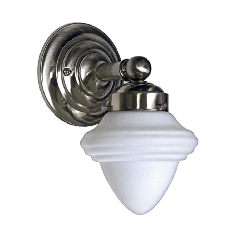 Khaleesi 8-in W 1-Light Satin Chrome Arm Wall Sconce