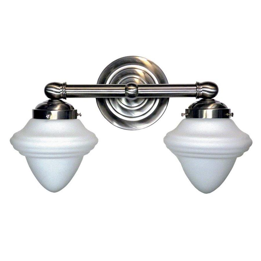 Khaleesi 2-Light 11-in Satin Chrome Bowl Vanity Light