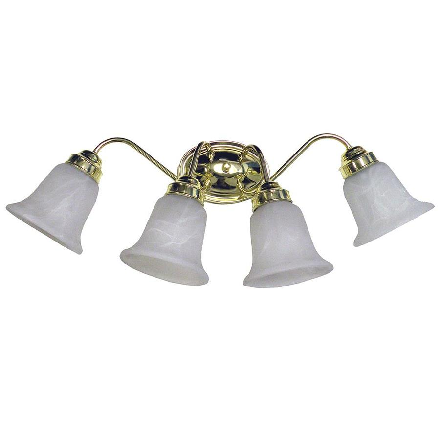 Shop Khaleesi 4-Light 8.5-in Polished Brass Bell Vanity Light at Lowes.com