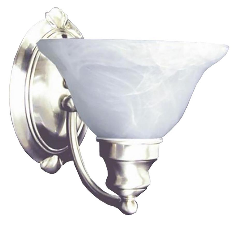 Wall Lights Satin Chrome : Shop Khaleesi 7.5-in W 1-Light Satin Chrome Arm Wall Sconce at Lowes.com