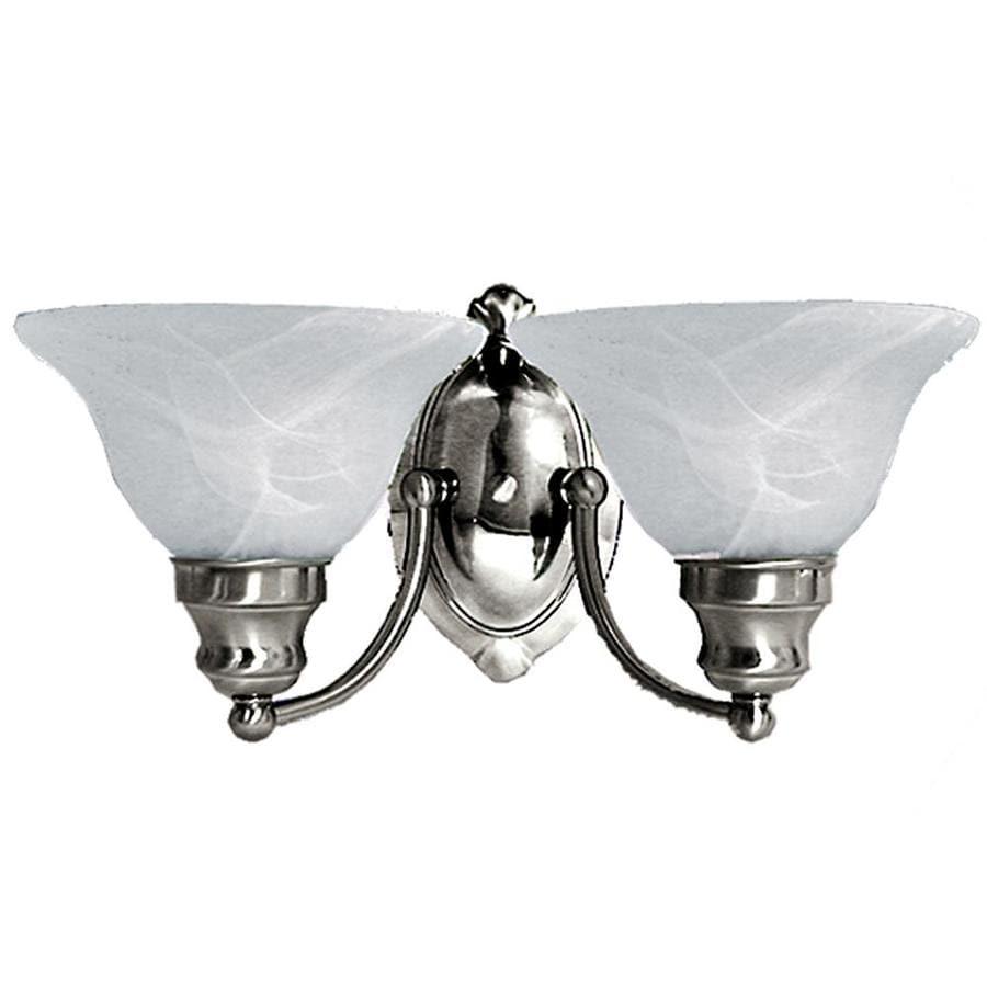 Khaleesi 2-Light 8-in Satin Chrome Bell Vanity Light