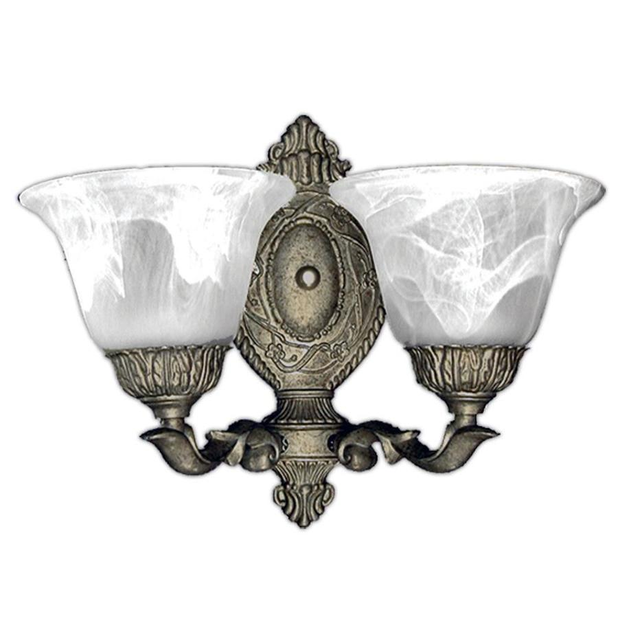 Khaleesi 2-Light 10.5-in Pewter Gold Bell Vanity Light