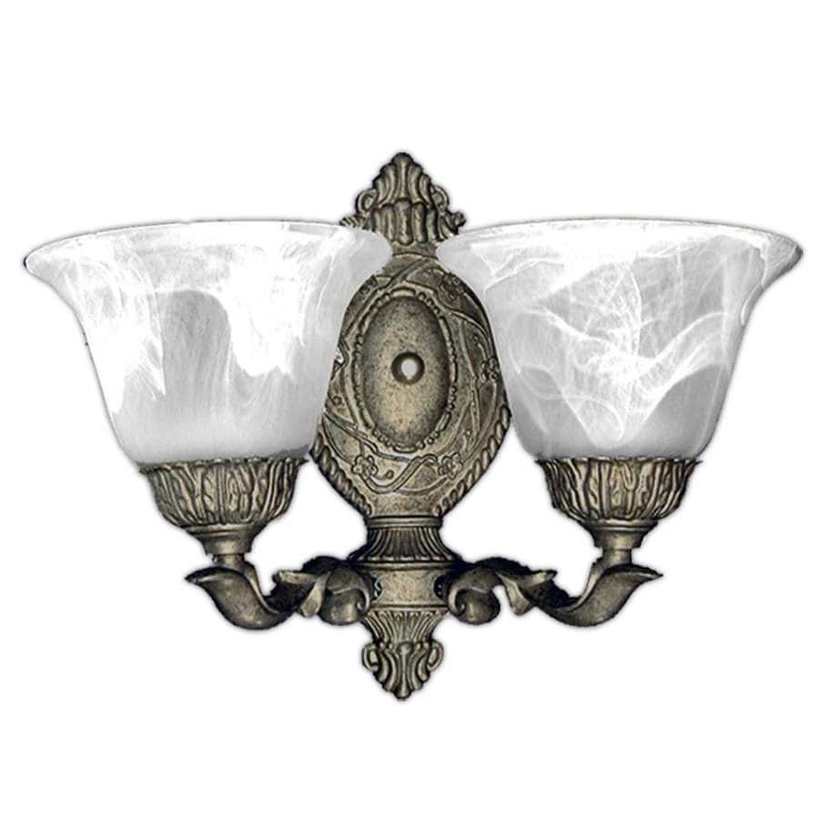 Khaleesi 2-Light Pewter Gold Vanity Light