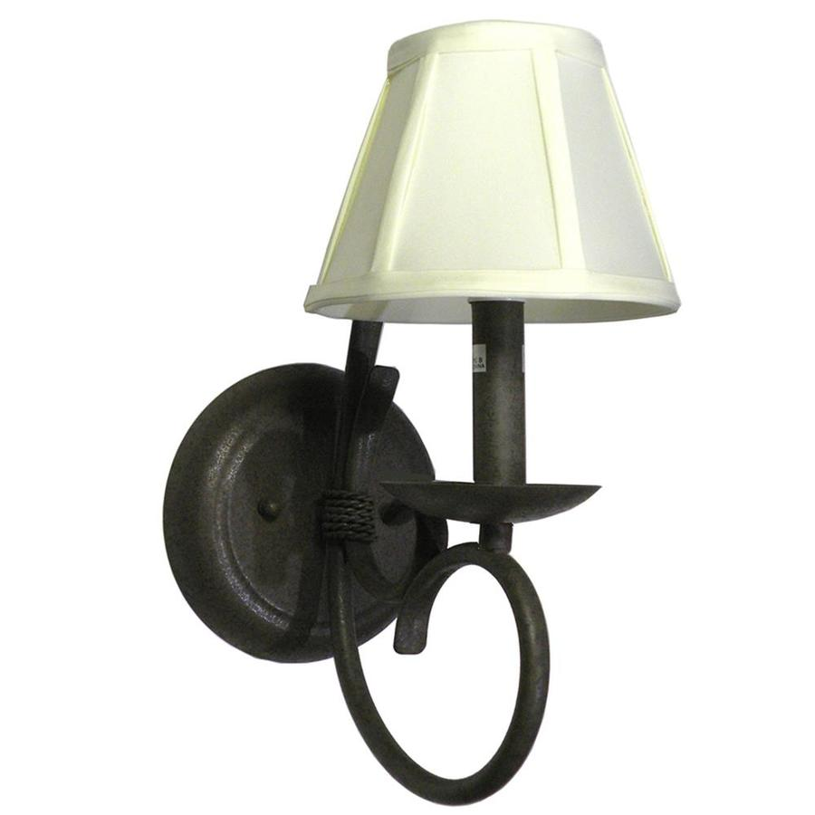 Khaleesi 6-in W 1-Light Rustic Bronze Arm Hardwired Wall Sconce