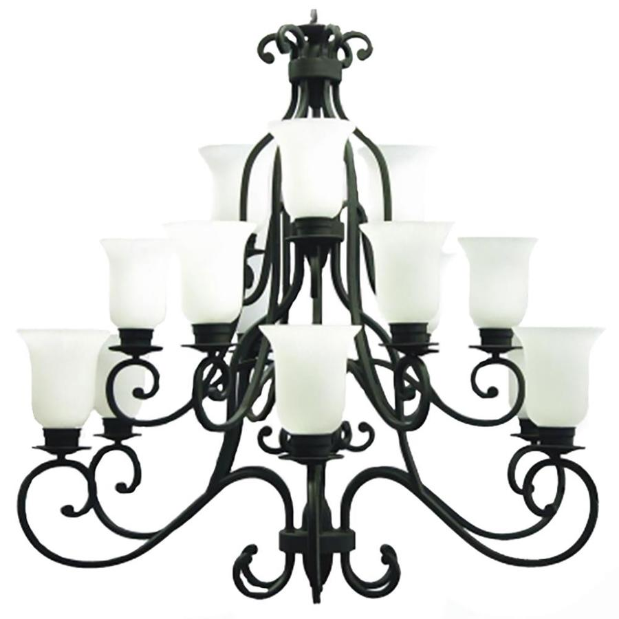 Khaleesi 48-in 15-Light English Bronze Candle Chandelier