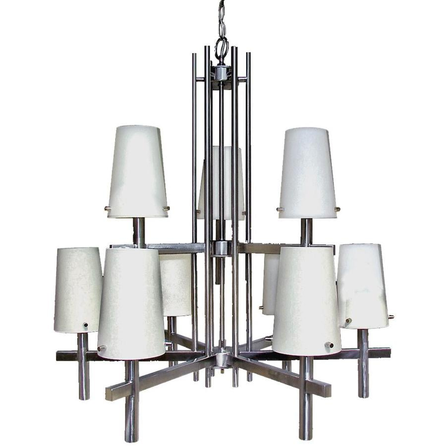 Khaleesi 26-in 9-Light Satin Chrome Candle Chandelier