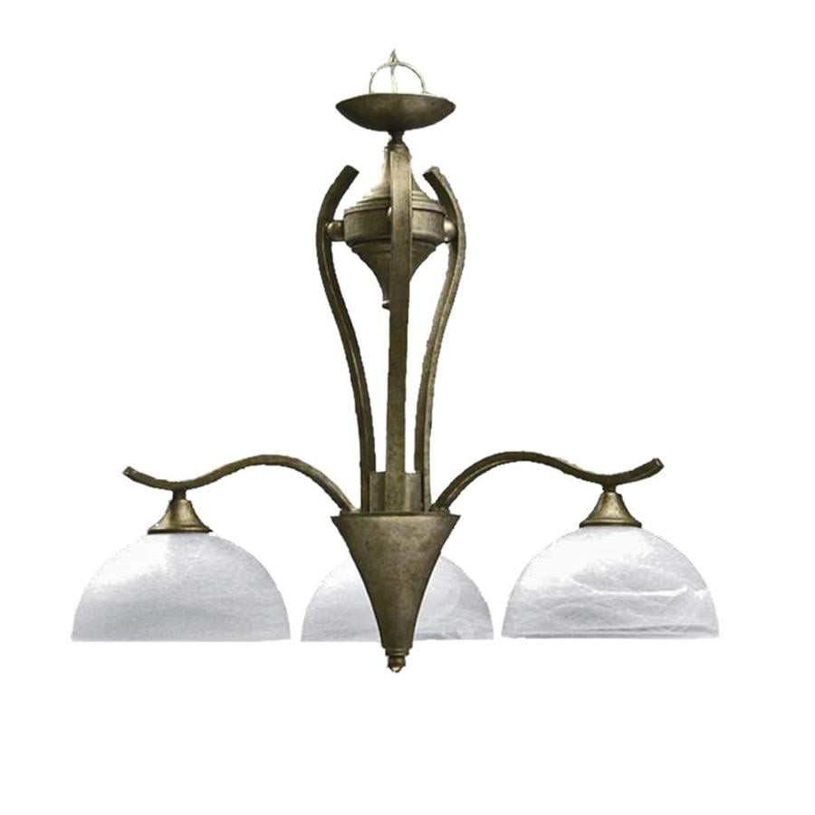Khaleesi 4-in W 3-Light Pewter Standard Kitchen Island Light with Frosted Shade