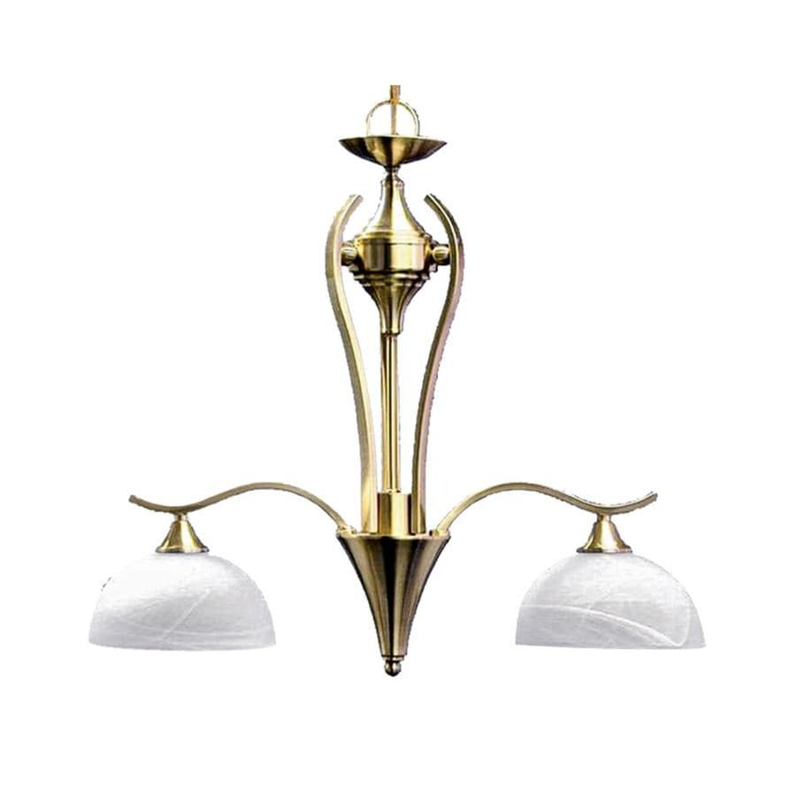 Khaleesi 4-in W 2-Light Satin Brass Kitchen Island Light with Frosted Shade