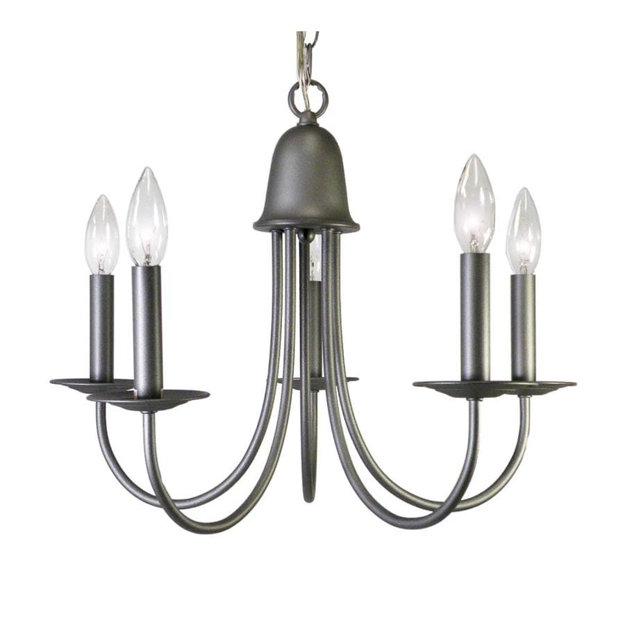 Khaleesi 15-in 5-Light Raw Iron Candle Chandelier