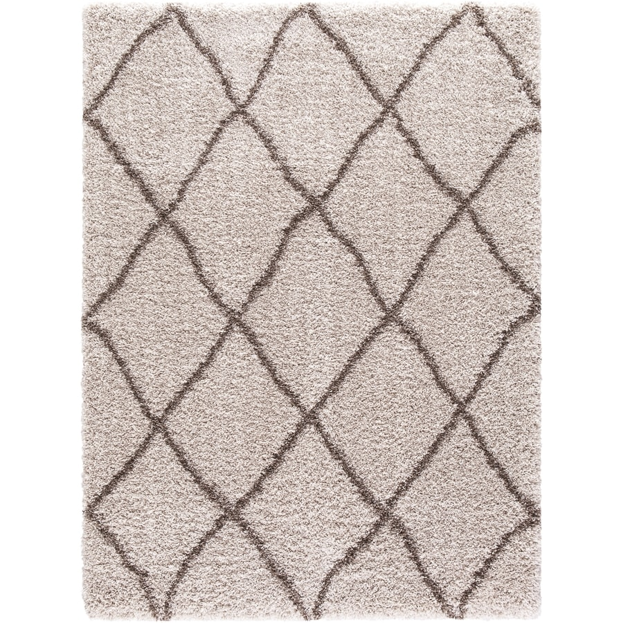 Concord Global Shagadelic Beige Rectangular Indoor Machine-made Inspirational Area Rug (Common: 3 x 5; Actual: 3.25-ft W x 4.58-ft L)