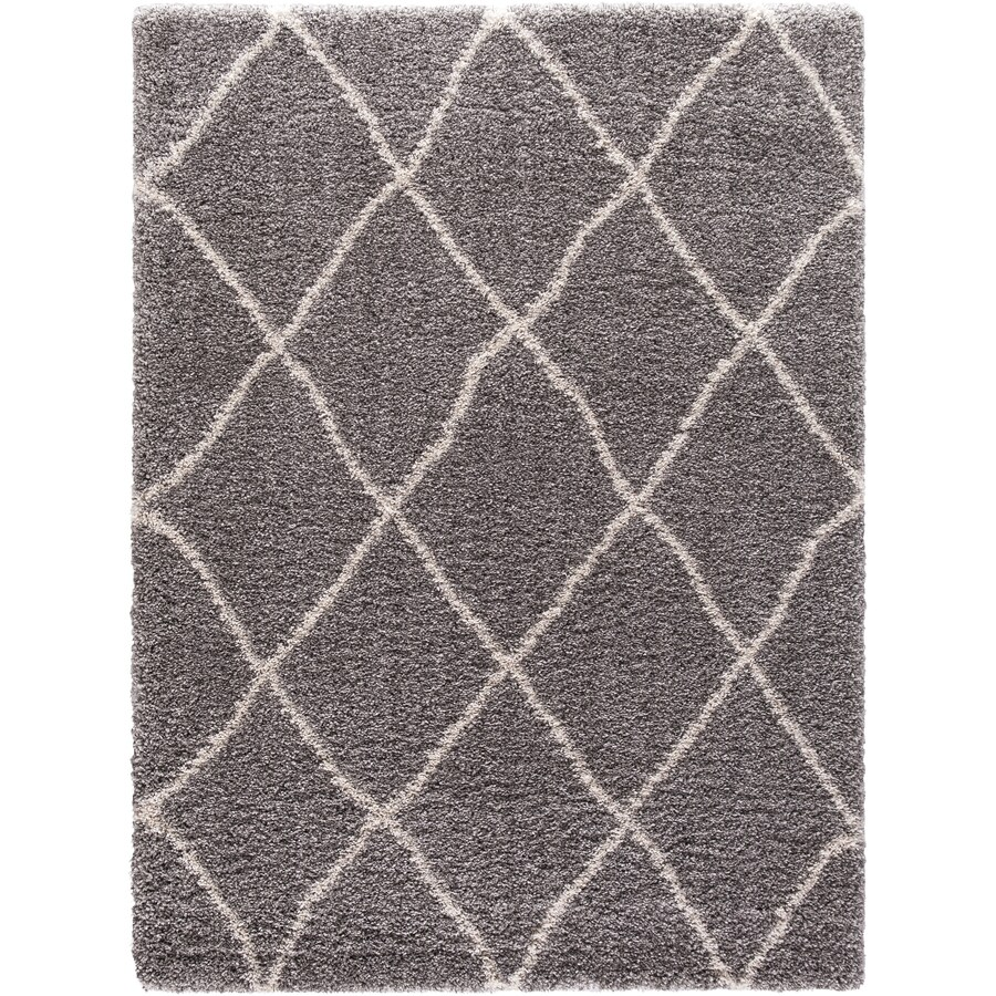 Concord Global Shagadelic Silver Rectangular Indoor Machine-made Inspirational Area Rug (Common: 5 x 7; Actual: 5.25-ft W x 7.25-ft L)