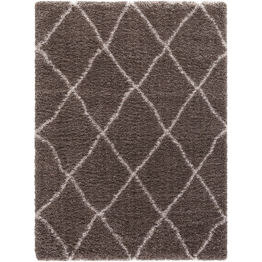 Concord Global Shagadelic Light Brown Rectangular Indoor Machine-Made Inspirational Area Rug (Common: 8 x 10; Actual: 7.83-ft W x 10.16-ft L)