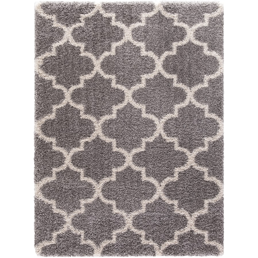 Concord Global Shagadelic Silver Rectangular Indoor Machine-Made Inspirational Area Rug (Common: 3 x 5; Actual: 3.25-ft W x 4.58-ft L)