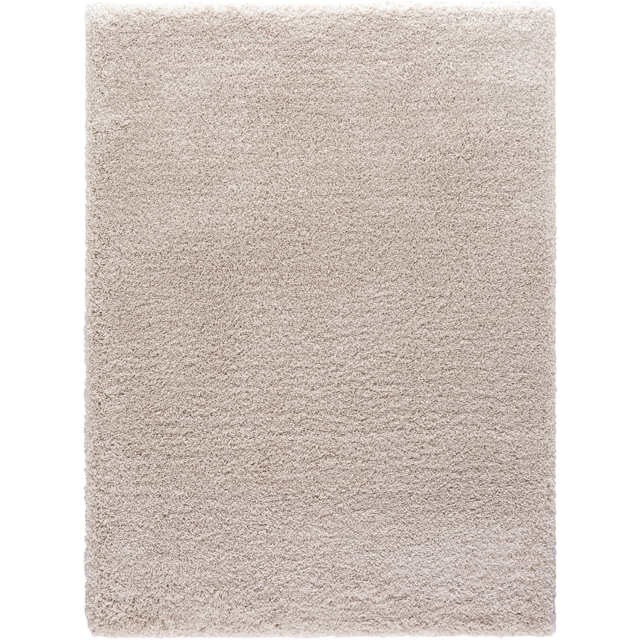 Concord Global Shagadelic Ivory Rectangular Indoor Machine-made Inspirational Area Rug (Common: 6 x 9; Actual: 6.58-ft W x 9.25-ft L)