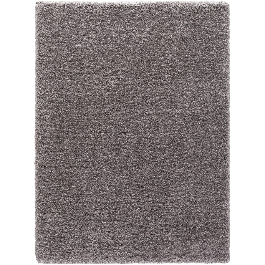Concord Global Shagadelic Silver Rectangular Indoor Machine-made Inspirational Area Rug (Common: 6 x 9; Actual: 6.58-ft W x 9.25-ft L)