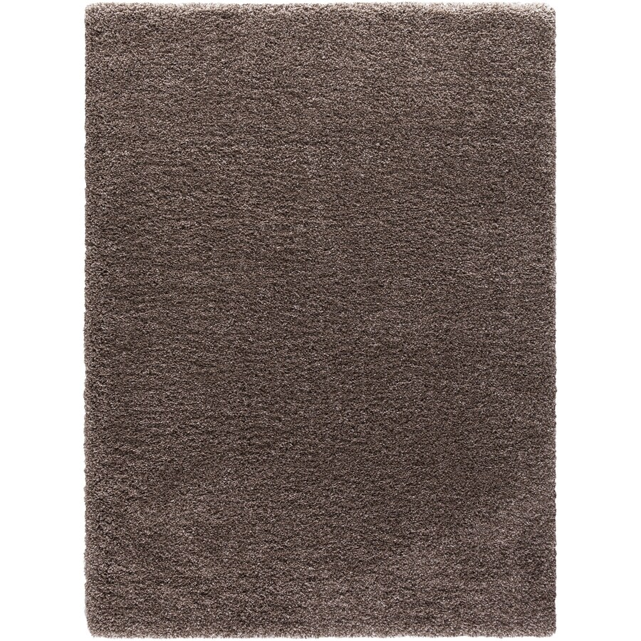 Concord Global Shagadelic Light Brown Rectangular Indoor Machine-made Inspirational Area Rug (Common: 5 x 7; Actual: 5.25-ft W x 7.25-ft L)