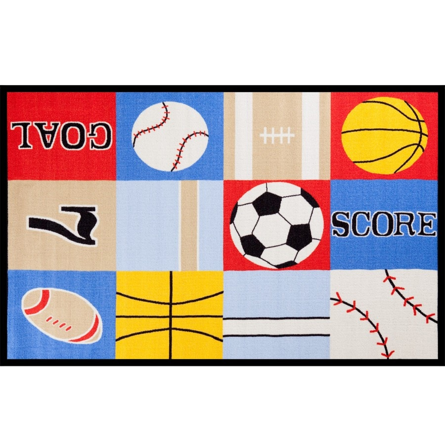 Concord Global Kids Multicolor Rectangular Indoor Tufted Kids Throw Rug (Common: 3 x 5; Actual: 3.25-ft W x 4.58-ft L x 3.25-ft Dia)