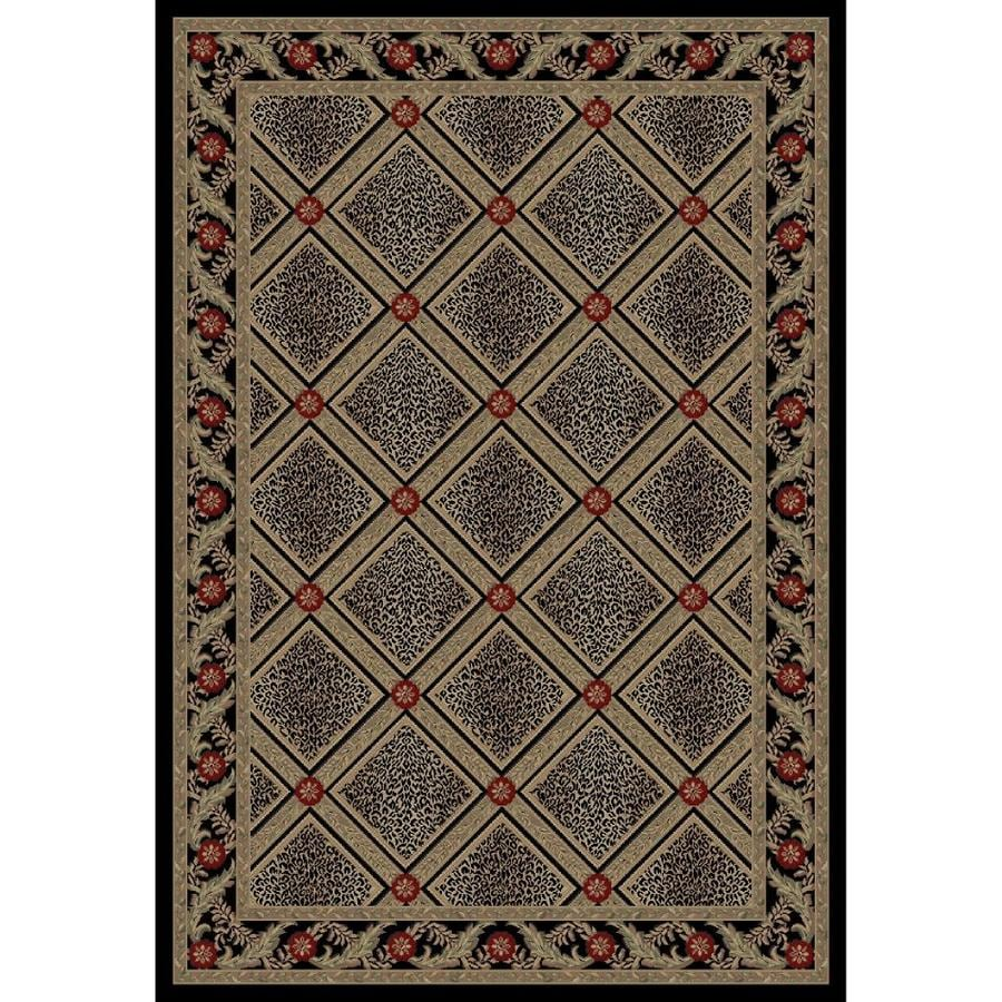 Concord Global Legend Black Indoor Animals Area Rug (Common: 8 x 11; Actual: 7.83-ft W x 10.83-ft L x 7.83-ft dia)