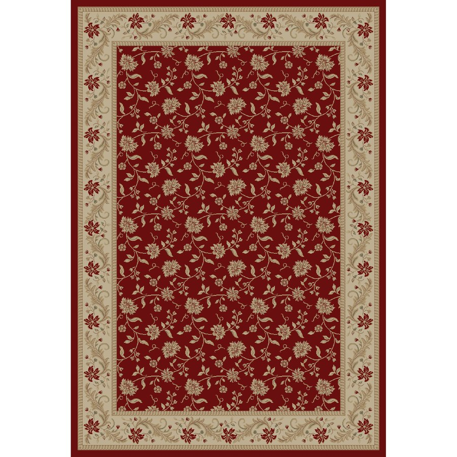 Concord Global Legend Red Rectangular Indoor Machine-made Oriental Area Rug (Common: 5 x 8; Actual: 5.25-ft W x 7.58-ft L x 5.25-ft Dia)
