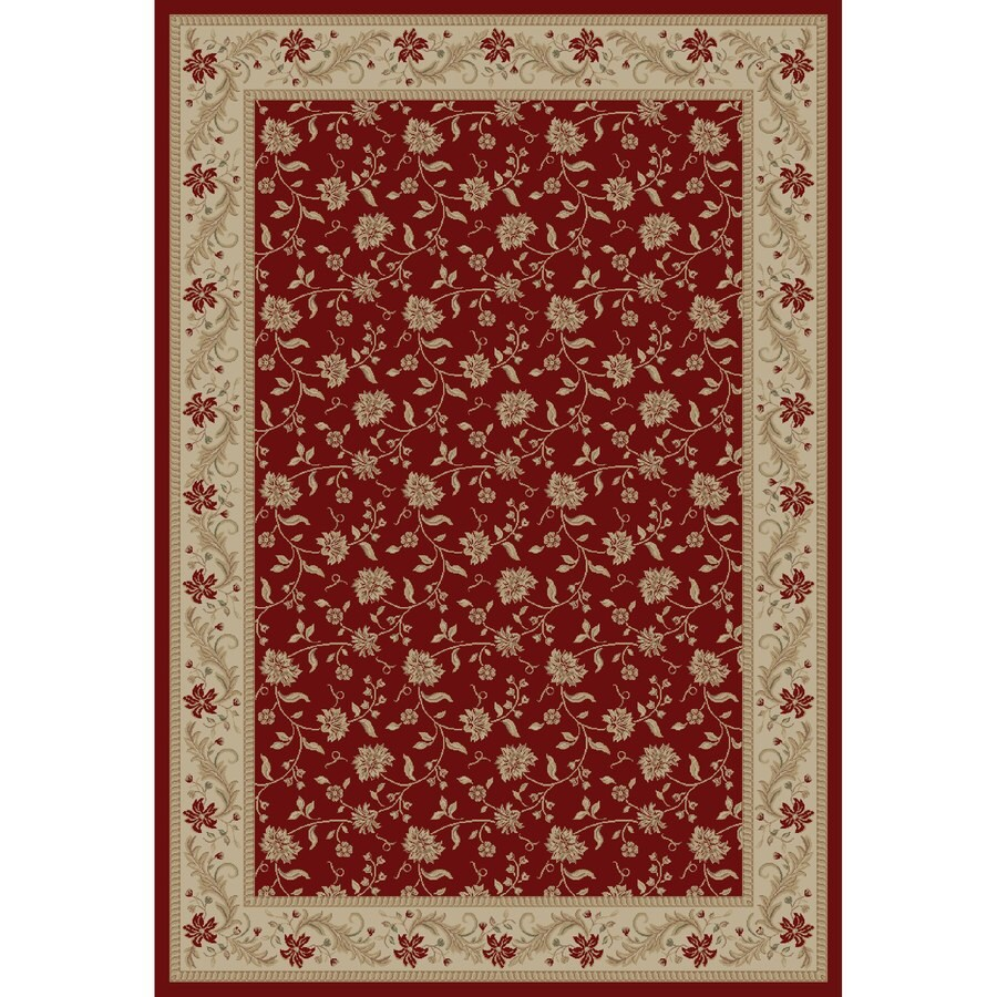 Concord Global Legend Red Rectangular Indoor Woven Oriental Area Rug (Common: 7 x 10; Actual: 6.58-ft W x 9.5-ft L x 6.58-ft Dia)