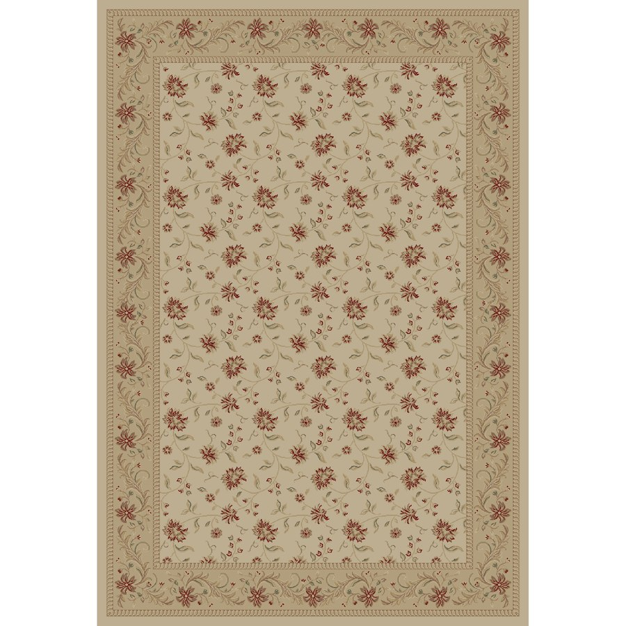 Concord Global Legend Ivory Rectangular Indoor Machine-made Oriental Area Rug (Common: 7 x 10; Actual: 6.58-ft W x 9.5-ft L x 6.58-ft Dia)