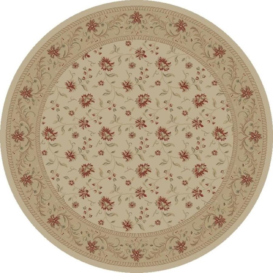 Concord Global Legend Ivory Round Indoor Woven Oriental Area Rug (Common: 8 x 8; Actual: 94-in W x 94-in L x 7.83-ft Dia)