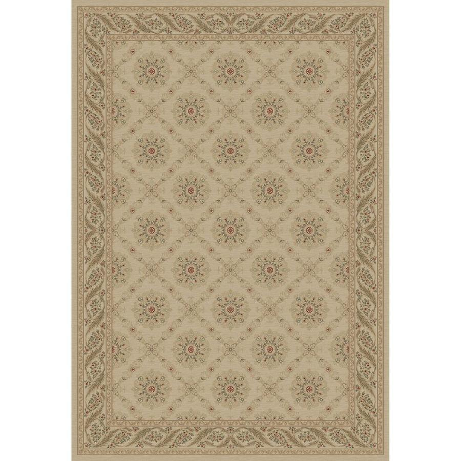 Concord Global Legend Ivory Rectangular Indoor Machine-made Oriental Area Rug (Common: 5 x 8; Actual: 5.25-ft W x 7.58-ft L x 5.25-ft Dia)