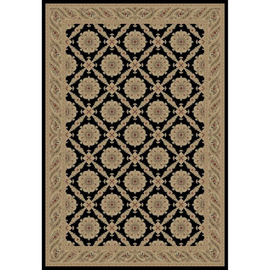 Concord Global Legend Black Rectangular Indoor Machine-made Oriental Area Rug (Common: 9 x 12; Actual: 8.75-ft W x 12.25-ft L x 8.75-ft Dia)