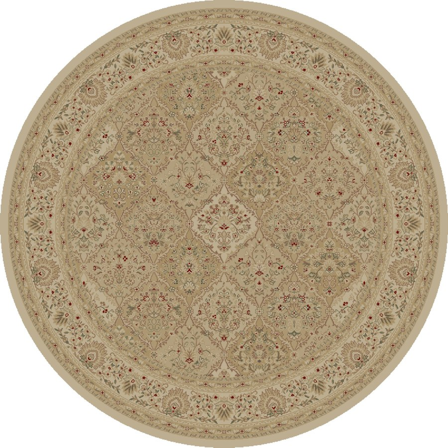 Concord Global Legend Ivory Round Indoor Machine-made Oriental Area Rug (Common: 5 x 5; Actual: 5.25-ft W x 5.25-ft L x 5.25-ft Dia)