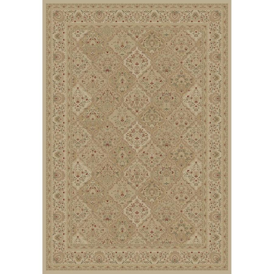Concord Global Legend Ivory Rectangular Indoor Woven Oriental Area Rug (Common: 7 x 10; Actual: 6.58-ft W x 9.5-ft L x 6.58-ft Dia)