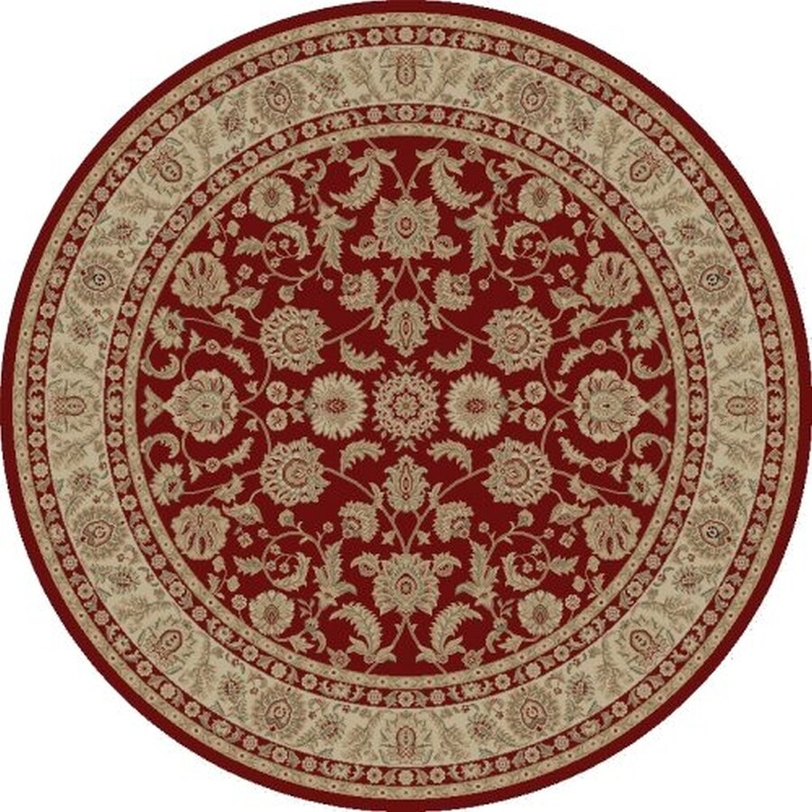 Concord Global Legend Red Round Indoor Machine-Made Oriental Area Rug (Common: 5 x 5; Actual: 5.25-ft W x 5.25-ft L x 5.25-ft Dia)