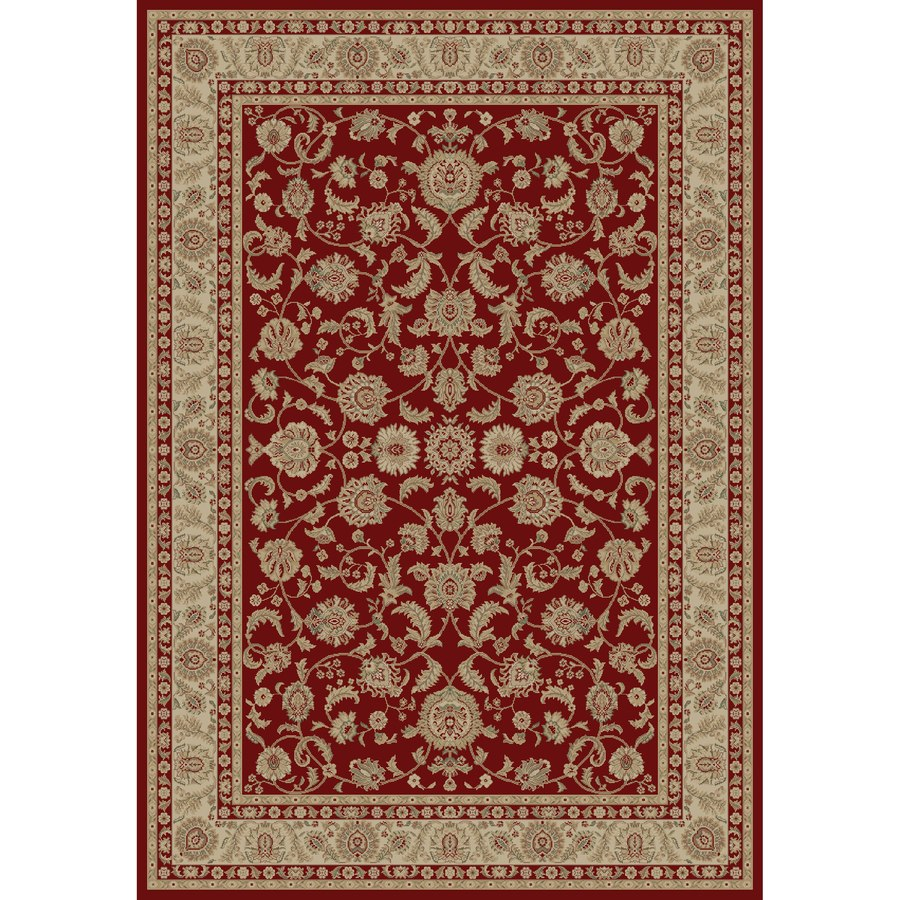 Concord Global Legend Red Rectangular Indoor Woven Oriental Area Rug (Common: 5 x 8; Actual: 5.25-ft W x 7.58-ft L x 5.25-ft Dia)
