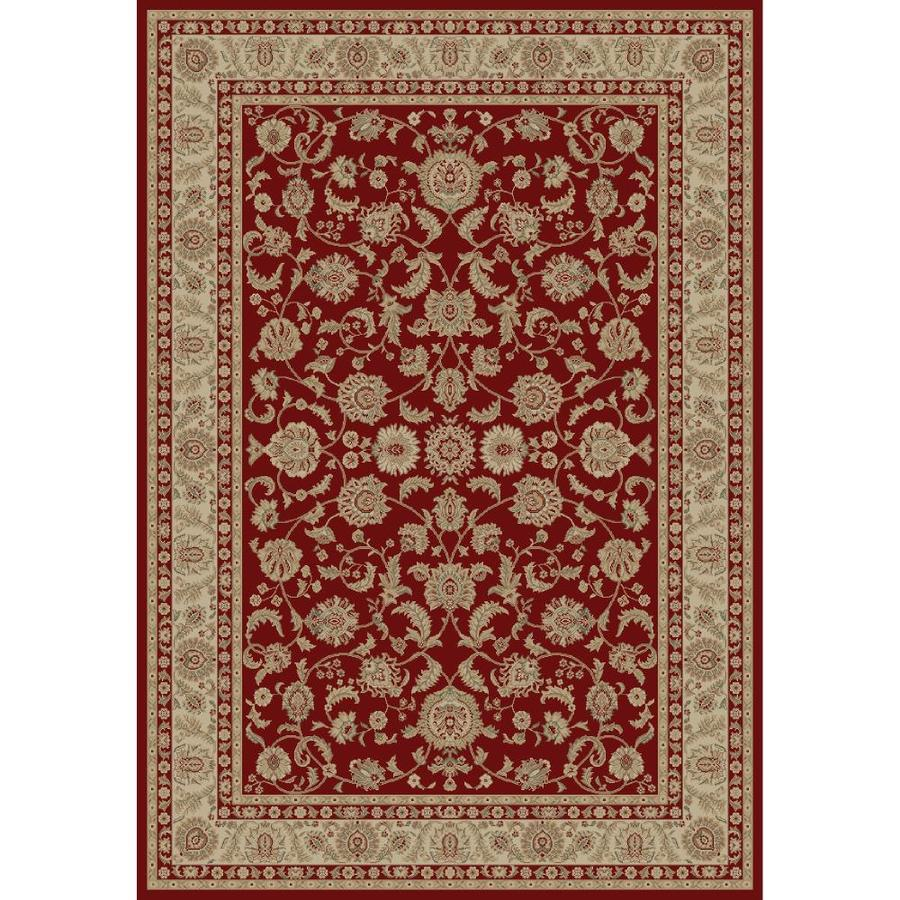 Concord Global Legend Red Rectangular Indoor Woven Oriental Area Rug (Common: 8 x 11; Actual: 7.83-ft W x 10.83-ft L x 7.83-ft Dia)