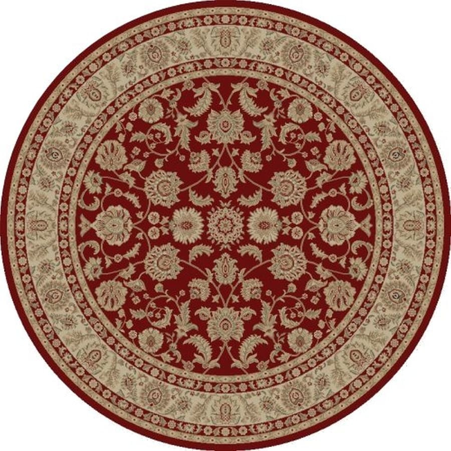 Concord Global Legend Red Round Indoor Machine-made Oriental Area Rug (Common: 8 x 8; Actual: 7.83-ft W x 7.83-ft L x 7.83-ft Dia)