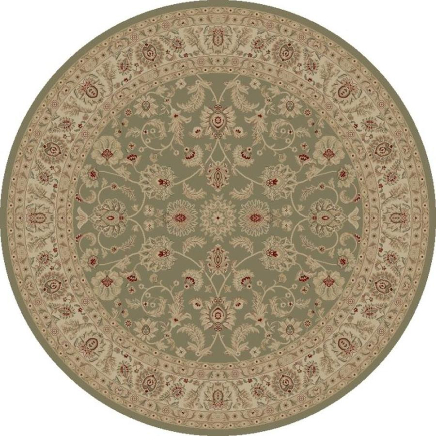 Concord Global Legend Gray Round Indoor Woven Oriental Area Rug (Common: 8 x 8; Actual: 7.83-ft W x 7.83-ft L x 7.83-ft Dia)