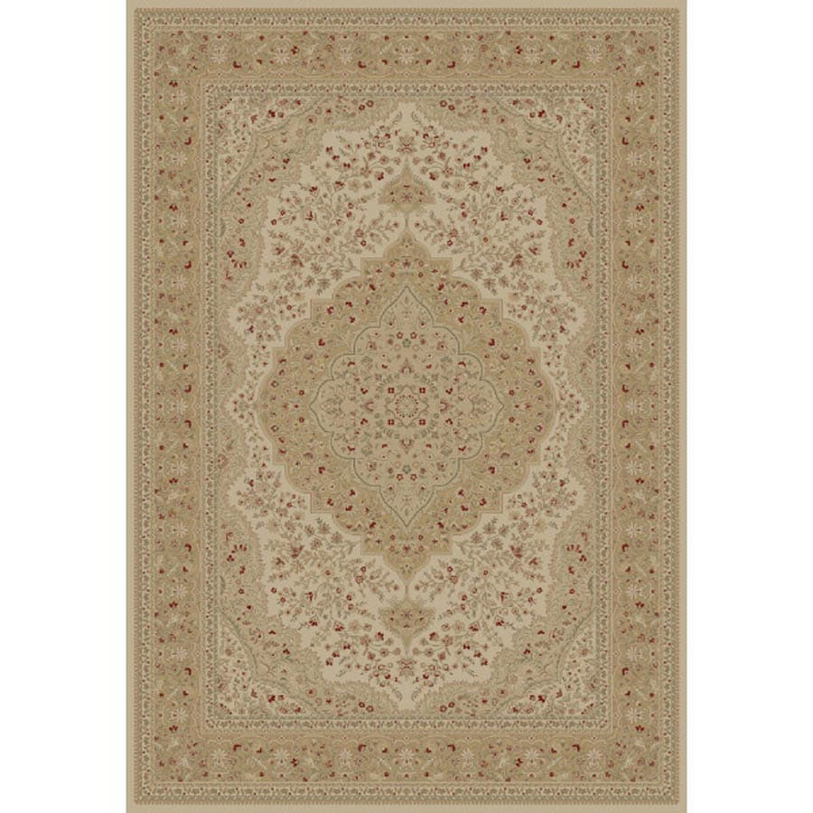 Concord Global Legend Rectangular Cream Floral Woven Area Rug (Common: 8-ft x 11-ft; Actual: 7.83-ft x 10.83-ft)