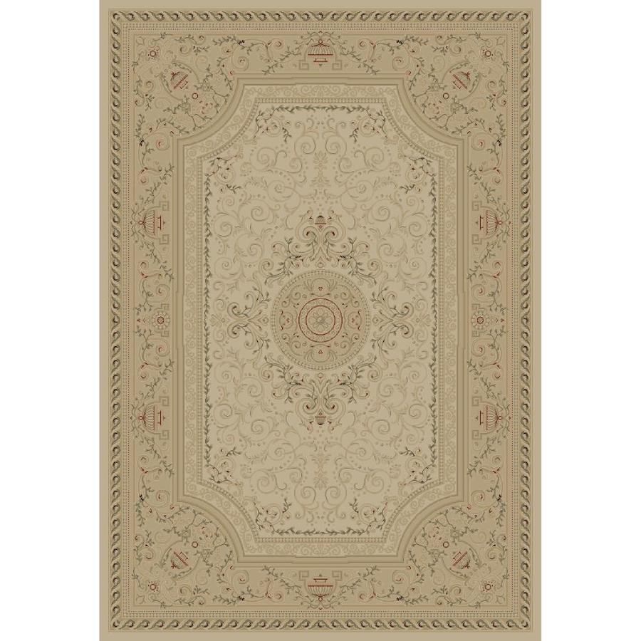 Concord Global Legend Ivory Rectangular Indoor Woven Oriental Area Rug (Common: 5 x 8; Actual: 5.25-ft W x 7.58-ft L x 5.25-ft Dia)