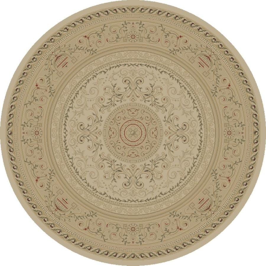 Concord Global Legend Ivory Round Indoor Woven Oriental Area Rug (Common: 8 x 8; Actual: 7.83-ft W x 7.83-ft L x 7.83-ft Dia)