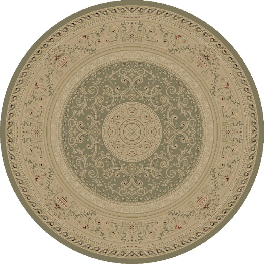 Concord Global Legend Gray Round Indoor Machine-made Oriental Area Rug (Common: 5 x 5; Actual: 5.25-ft W x 5.25-ft L x 5.25-ft Dia)