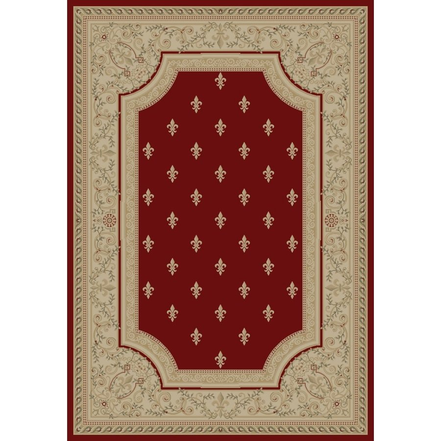 Concord Global Legend Red Rectangular Indoor Machine-made Oriental Area Rug (Common: 8 x 11; Actual: 7.83-ft W x 10.83-ft L x 7.83-ft Dia)
