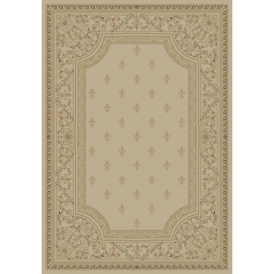 Concord Global Legend Ivory Rectangular Indoor Machine-made Oriental Area Rug (Common: 9 x 12; Actual: 8.75-ft W x 12.25-ft L x 8.75-ft Dia)