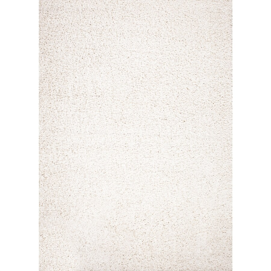 Concord Global Moderno Ivory Rectangular Indoor Woven Throw Rug (Common: 3 x 5; Actual: 3.25-ft W x 4.58-ft L x 3.25-ft Dia)